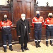 Il ringraziamento ai volontari dell'Ass. naz. Carabinieri per il servizio nelle Messe di Natale